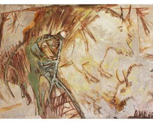"""Opposite"" 2017 Acrylic on canvas , 120x90cm 10.000 ₪"