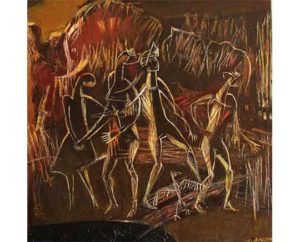 """Ruffinyak ""2018 Acrylic on canvas 120x90cm 8.000 ₪"