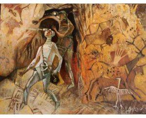 """""""Bonjour"""" 2017 Acrylic on canvas 120x90cm 13,000 ₪"""