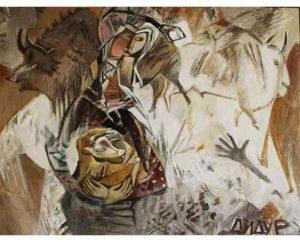 """White, black, color"" 2017 Acrylic on canvas 120x90cm 12,000 ₪"