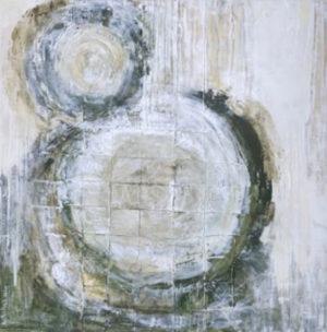 .״מעגלי החיים״ - 70/70 ס״מ, אקריליק על קנווס, טכניקה משולבת- 3600 ש״ח.