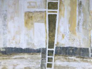 ״חלונות זמן״ - 90/120 ס״מ, אקריליק על קנווס, טכניקה משולבת- 6300 ש״ח