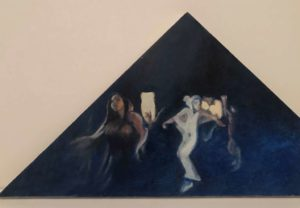 3, oil on wooden board. About 25/35. NIS 500 each, 2, Triad 1